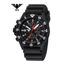 KHS Tactical Watches KHS Shooter  H3 Chronograph   Diverband Black