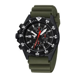 KHS Tactical Watches KHS Shooter  H3 Chronograph | Diverband Oliv
