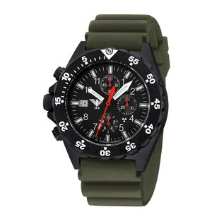 KHS Tactical Watches KHS Shooter Chronograph mit Diver Armband Olive | KHS.SHC.DO