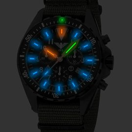 KHS Tactical Watches Missiontimer 3  Operation Timer  Chronograph | Natoband Olive
