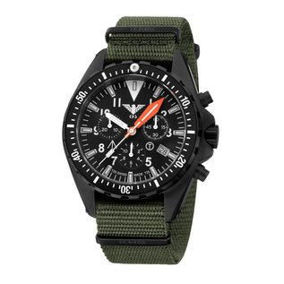 KHS Tactical Watches Missiontimer 3 Operation Timer Chronograph green nato strap | KHS.MTAOTC.NO