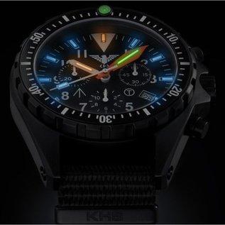 KHS Tactical Watches Missiontimer 3 Operation Timer Chronograph mit sandfarbigen Natoband