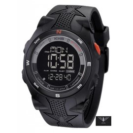 KHS Tactical Watches Sentinel DC  Black Silikon Strap