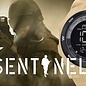 KHS Tactical Watches Sentinel DC - Digital Alarm Chronograph mit Digital Compass KHS Black Eagl Silikonband TAN
