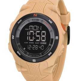 KHS Tactical Watches Sentinel DC Alarm Chronograph TAN | Silikonband