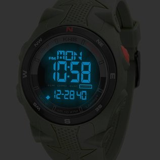 KHS Tactical Watches Sentinel DC - Digital Alarm Chronograph with Digital Compass
