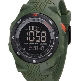 KHS Tactical Watches Sentinel DC Alarm Chronograph |  grünes Silikonband