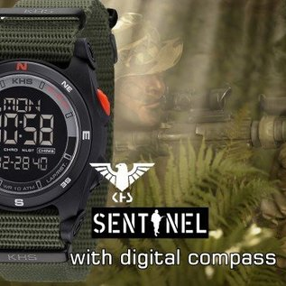KHS Tactical Watches Sentinel DC - Digital Alarm Chronograph mit Digital Compass