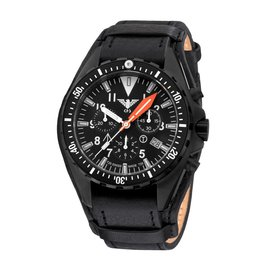 KHS Tactical Watches Missiontimer 3 Operation Timer Chronograph | Leather strap with G-pad