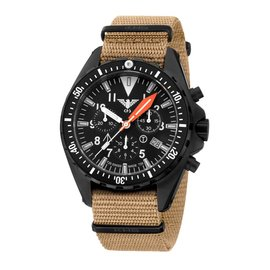 KHS Tactical Watches Missiontimer 3 OCEAN Chronograph | Natoband TAN