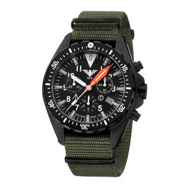 KHS Tactical Watches Missiontimer 3 OCEAN BLUE  Chronograph | Nato strap olive