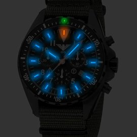 KHS Tactical Watches Missiontimer 3 OCEAN Chronograph | Natoband Black