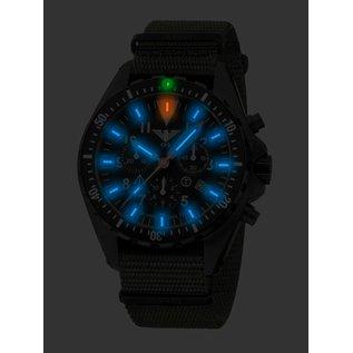KHS Tactical Watches Missiontimer 3  OCEAN  Chronograph mit schwarzen Natoband   KHS.MTAOC.NB