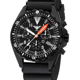 KHS Tactical Watches Missiontimer 3  OCEAN BLUE Chronograph | Diver Black