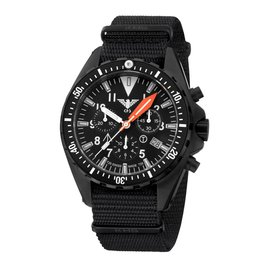 KHS Tactical Watches Missiontimer 3  Operation Timer Chronograph | Natoband Black
