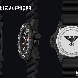 KHS Tactical Watches Tactical Watches | Reaper diver band olive | RED HALO H3 lighting system
