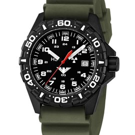 KHS Tactical Watches Red Reaper diver band olive | KHS.RE.DO