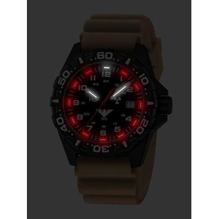 KHS Tactical Watches KHS Reaper  Diverband Tan | RED HALO H3 Leuchtsystem