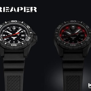 KHS Tactical Watches KHS Einsatzuhr Reaper Natoband Tan  RED HALO Tritium Leuchtsystem
