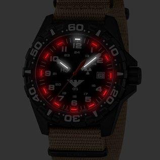 KHS Tactical Watches KHS Einsatzuhr Reaper Natoband Tan| RED HALO Tritium Leuchtsystem