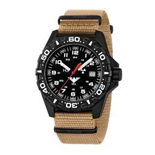 KHS Tactical Watches Tactical Watches | Reaper Nato bracelet tan | RED HALO H3 lighting system