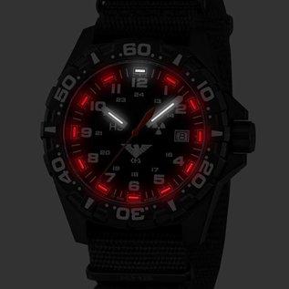 KHS Tactical Watches Taktische Uhren Reaper Natoband  XTAC Black   RED HALO H3 Leuchtsystem