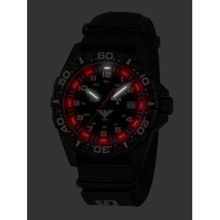 KHS Tactical Watches Taktische Uhren Reaper Natoband  XTAC Black | RED HALO H3 Leuchtsystem