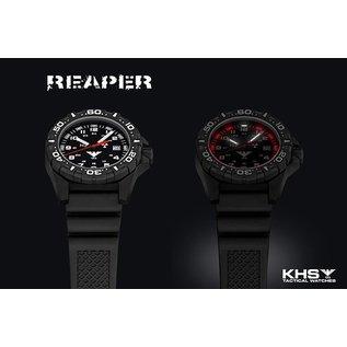 KHS Tactical Watches Taktische Einsatzuhr Reaper Natoband  XTAC Olive | RED HALO H3 lighting system