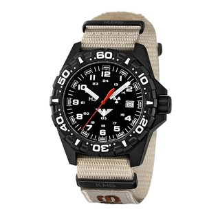KHS Tactical Watches Tactical Watches   Reaper Nato XTAC bracelet tan   RED HALO H3 lighting system