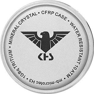 KHS Tactical Watches KHS Reaper mit G-Pad Lederarmband Black | RED HALO H3 Leuchtsystem