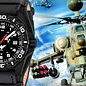 KHS Tactical Watches Military Watches | Reaper  G-Pad Leather bracelet | RED HALO H3 lighting system