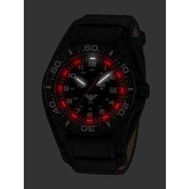 KHS Tactical Watches Reaper | G-Pad Lederarmband schwarz