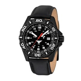 KHS Tactical Watches Red Reaper black  leather bracelet