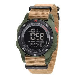 KHS Tactical Watches Sentinel DC Olive Alarm Chronograph Nato BandTan