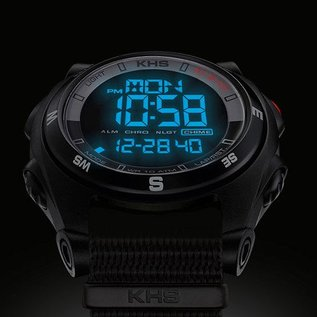 KHS Tactical Watches Sentinel DC - Digital Alarm Chronograph with Digital Compass - Copy