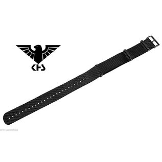 KHS Original KHS Nato Uhrenarmband 20 / 22 mm | IP black beschichtet
