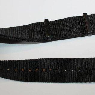 KHS Original KHS Nato Uhrenarmband 20 / 22 mm | IP black beschichtet