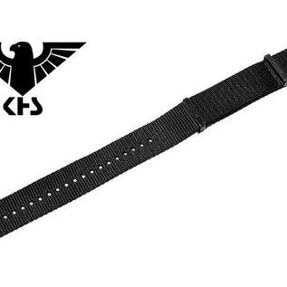 KHS Tactical Watches Nato Uhrenarmband Black | IP beschichtet | KHS Bänder| 24 mm