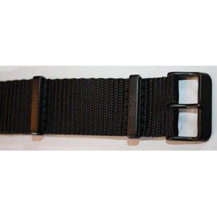 KHS Tactical Watches Nato Uhrenarmband Black | IP beschichtet | KHS Bänder| 24 mm