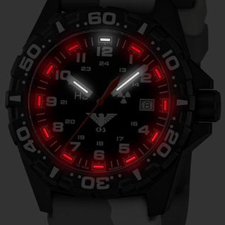 KHS Tactical Watches Reaper  Diverband Camouflage TAN  | RED HALO H3 Leuchtsystem