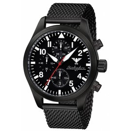 KHS Tactical Watches Black Airleader Chronograph