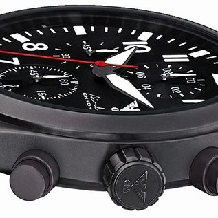 KHS Tactical Watches Airleader Black Steel Chronograph mit grünen Diver Armband.