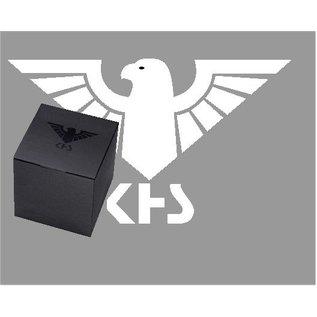 KHS Tactical Watches Airleader Black Steel Chronograph mit grünen Diver Armband.