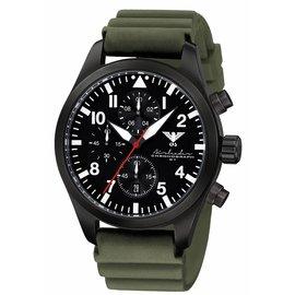 KHS Tactical Watches Black Airleader Chronograph Diverband grün