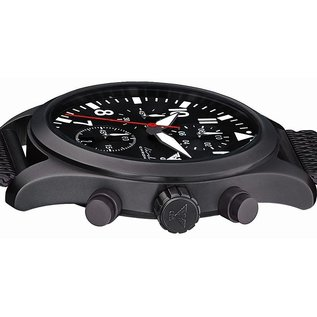 KHS Tactical Watches Black Airleader Chronograph with black diver band