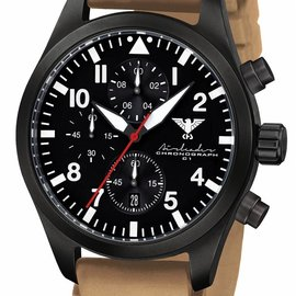 KHS Tactical Watches Black Airleader Chronograph, Diverband