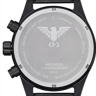 KHS Tactical Watches KHS Black Airleader Chronograph with black nato band