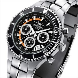 Firefox Watches  SILVER SURFER Pilot Watch Chronograph Orange
