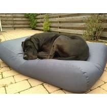 Hondenkussen staalgrijs vuilafstotende coating medium