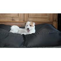 Hondenbed zwart vuilafstotende coating extra small